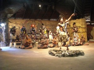 Lesedi native tribal dancers.