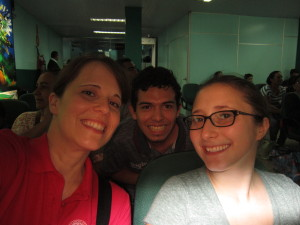 Me, Davison, and Ellen, about to hop on the plane back to Manaus. Not pictured: our awesome friend who we'd met over the weekend. He was on the other side of the camera.